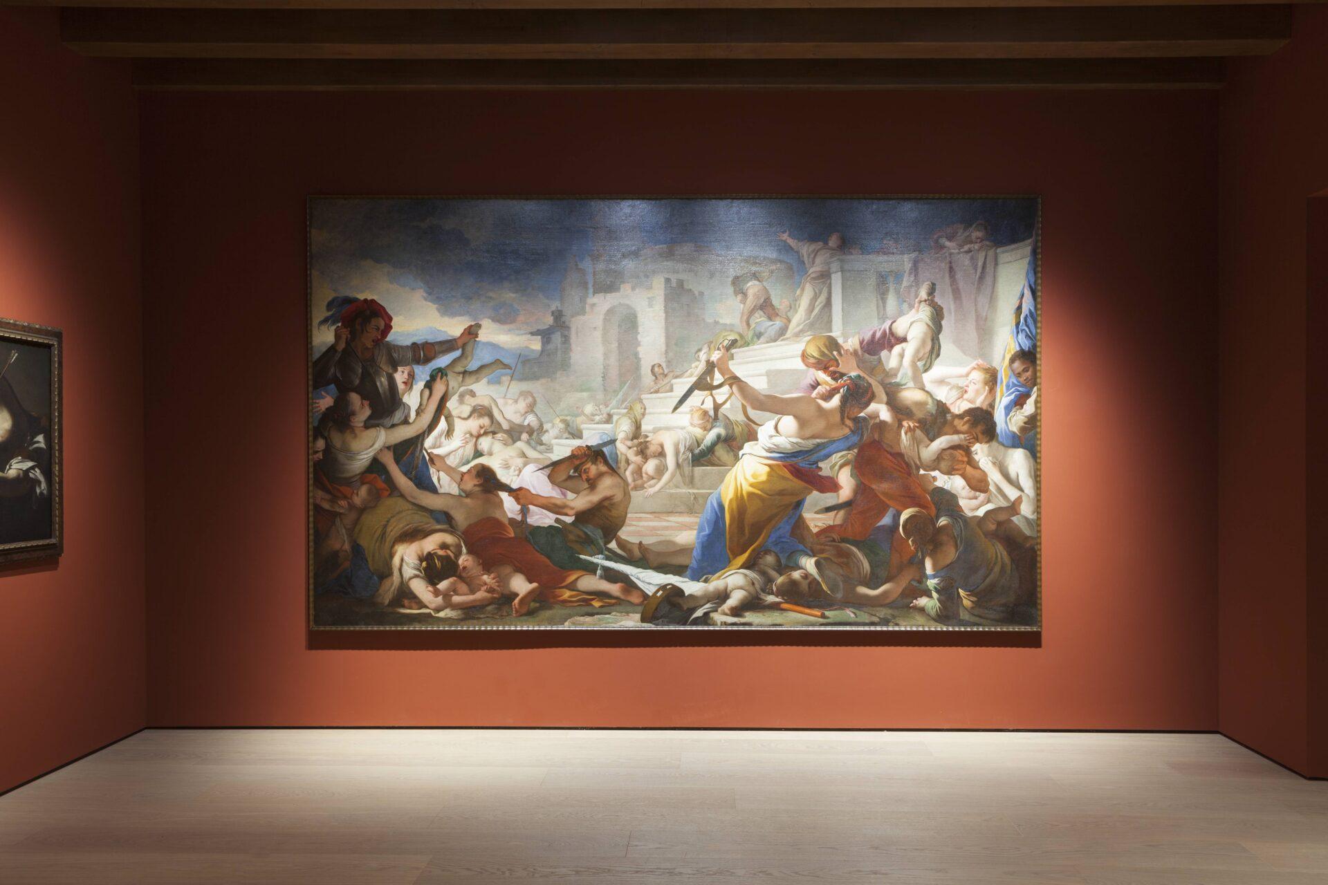 In the center, Simone Brentana, Massacre of the Innocents.